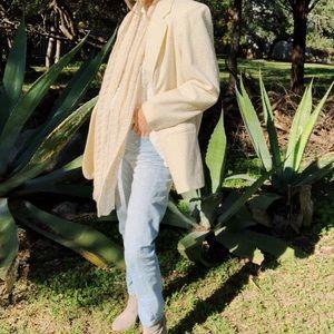 Jackets & Blazers - Vintage cream wool blazer